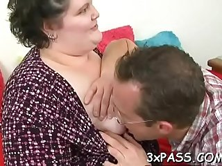 Boy bangs hot fattie hard