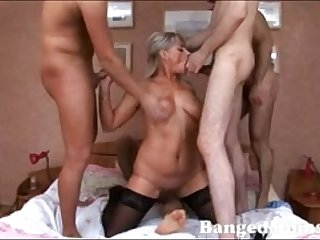 DP and gangbang with 4 younger boys and blonde HOT MILF - xHamstercom