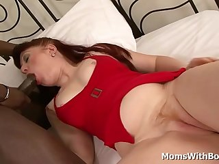 Mature Redhead Mom Esmeralda Pounded by Big Black Cock
