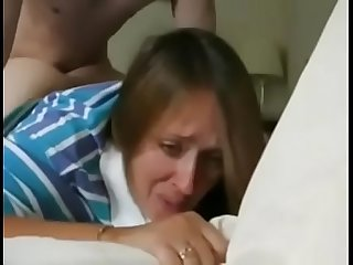 Housewife lets son's friend use her pussy