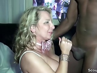 German Step-Mom Fuck Black Boy on Privat Party