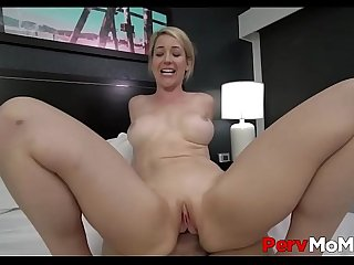 Big Tits Blonde MILF Step Mom Orgasms On Step Son's Big Cock POV