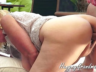 Hairy Granny Snatch rear Fucked