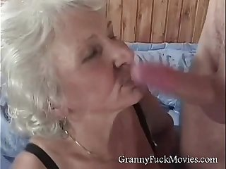 Blonde Granny Doing It Doggy