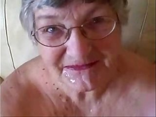 Old granny really loves young cock. Great amateur facial