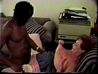 Granny Enjoys Younger Black Bull Interracial