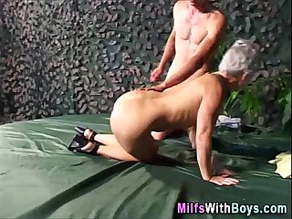 Grey Haired Granny Outdoor Hardcore Fucked