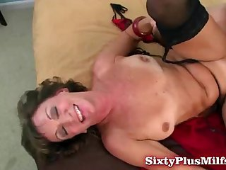 Fuck hungry brunette granny