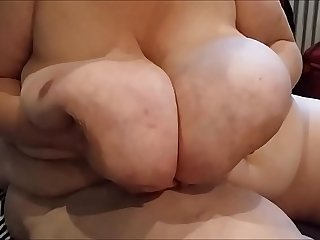 Huge saggy  monster tits granny
