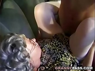German Granny Can't Wait To Fuck Young Delivery Guy