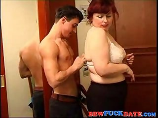 BBW Mature Woman and Younger Boy