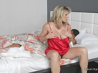 Milf has sex with step daughter and her bf