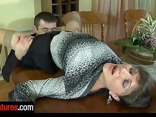 Good-looking milf invites her hung neighbor for a drink and a hardcore fuck