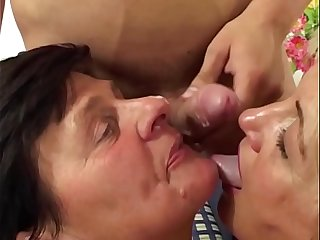 MomsWithBoys - Sexy Blonde Mom Sucking New Boyfriend's Cock