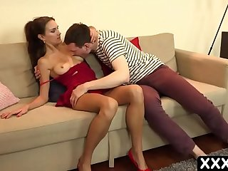 European stepmom fucks an 18-year-old stepson when father is not at home