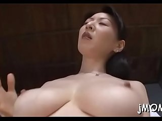 Mature slut gives a hot titty jerk off and rides a large hard pole