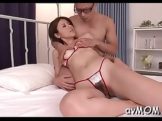 Horny asian fetish milf gets wet whilst sucking on toes and balls
