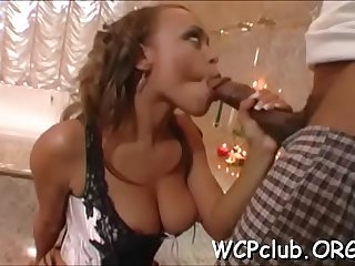 White whore gets jizz in mouth after anal sex with black boy