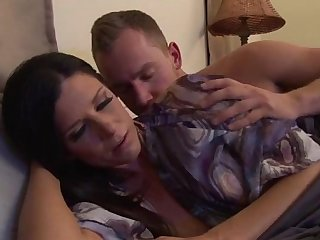 Upset mother calmed by stepson - more videos on www.amateurcams.cf